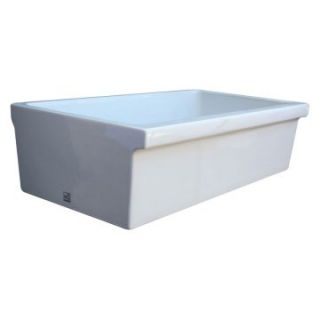WhiteHaus 30 Inch Quatro Alcove Reversible Fireclay Sink with Fluted
