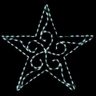 35 in. Outdoor LED Scroll Star Display   140 Bulbs   Outdoor Christmas
