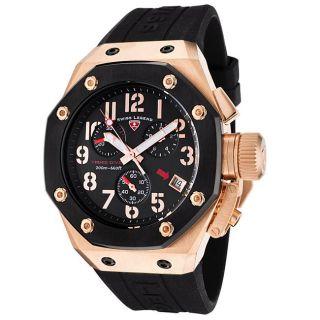 Swiss Legend Mens Trimix Diver Black Silicone Chronograph Watch