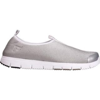 Womens Propet Travel Walker Slip On Silver Stretch Mesh