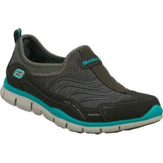 Womens Skechers Gratis Legendary Charcoal/Aqua