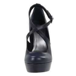 MIA Womens Flamenco Midnight Blue Mary Jane Wedges