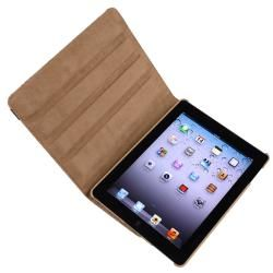 Brown Leopard 360 degree Swivel Leather Case for Apple iPad 2/ 3