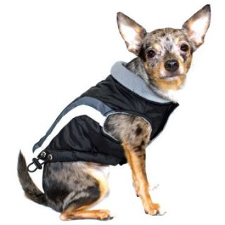 Hip Doggie Swiss Alpine Ski Vest   Black   Dog Coats and Jackets at