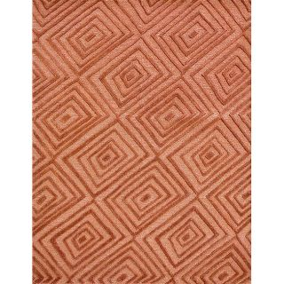 Constructed Mable Soft Rust/ Red Wool Rug (710 x 11)