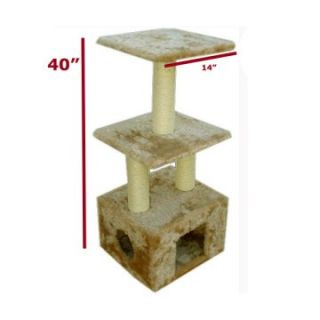 Majestic Pet 40 in. Casita Fur Cat Tree   Cat Trees