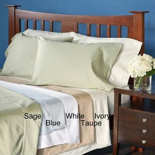 Grand Luxe Egyptian Cotton Sateen 300 Thread Count Solid King size
