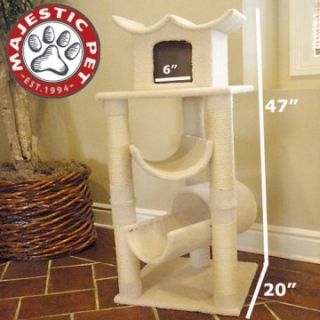 Majestic Pet 47 in. Bungalow Sherpa Cat Tree   Cat Trees
