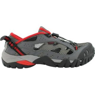 Mens Propet Endurance Black/Grey/Red