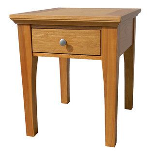 Fraser One Drawer Golden Oak End Table