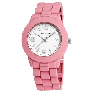 Vernier Womens Simple Beauty Basic Soft Touch Matte Pink Watch