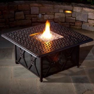 Alfresco Home Ramblas 48 in. Square Gas Fire Pit Chat Table with