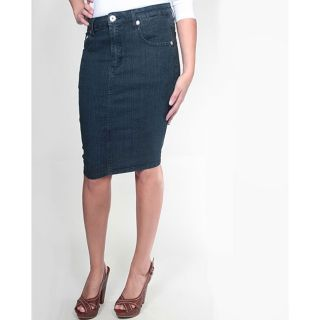Tabeez Womens Medium Blue Denim Pencil Skirt