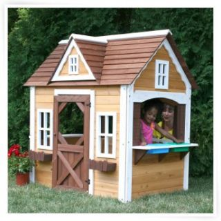 Outdoor playhouse on popscreen for Cheap outdoor playhouses