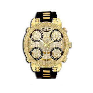 Grand Master Mens Five Time Zone Diamond Watch