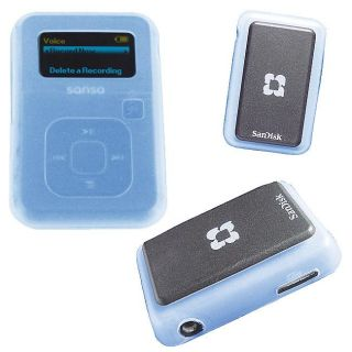 Skque Blue Silicone Skin Case for SanDisk Sansa Clip Plus MP3 Player