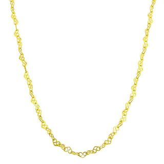 14k Yellow Gold 16 inch Mini Pretzel Link Necklace (2.2 mm