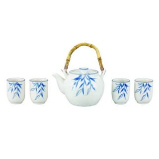 Old Dutch Cream Bamboo Grove 5 pc. Porcelain 54 oz. Tea Set   Teapot