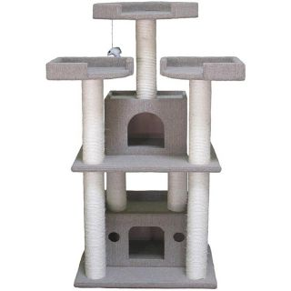 Go Pet Club Cat Tree Condo House 51 inch Scratcher