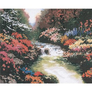 Thomas Kinkade Beside Still Waters Counted Cross Stitch Kit Today: $24