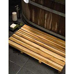 Tapete de madera para spa de teca cultivada y acabado aceitado