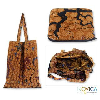 Cotton Madura Legacy Batik Foldable Tote Bag (Medium) (Indonesia