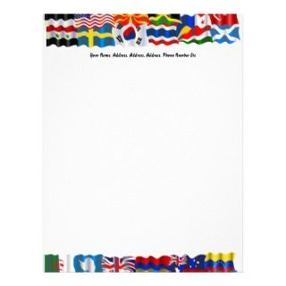 , Wavy Flag Wallpaper, YourCustom Letterhead