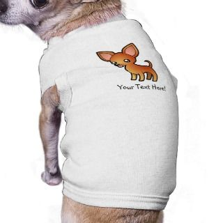 Cartoon Chihuahua (red smooth coat) pet clothing by SugarVsSpice