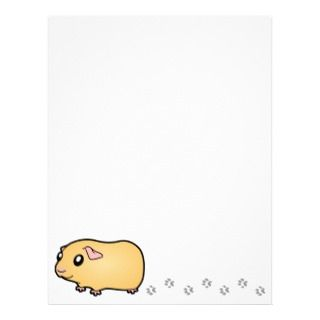 Cartoon Guinea Pig (cream) letterhead by SugarVsSpice