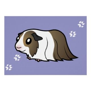 Cartoon Guinea Pig (brown dutch) posters by SugarVsSpice