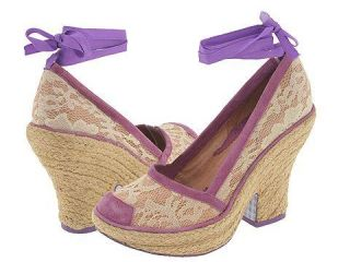 Irregular Choice Lace Curtain 3057 5C Peach/Cream/Lavendar