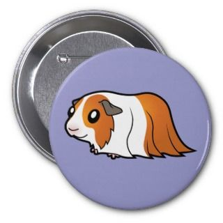 Cartoon Guinea Pig (red dutch) buttons by SugarVsSpice