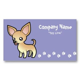 Cartoon Chihuahua (fawn smooth coat) business cards by SugarVsSpice