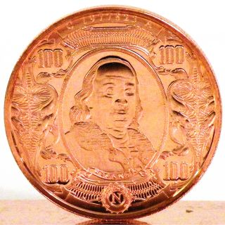 Money Trader 1 oz 999 Pure Copper Bullion 2012 Lincoln Design Coin