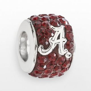 LogoArt Alabama Crimson Tide Sterling Silver Crystal Logo Bead   Made