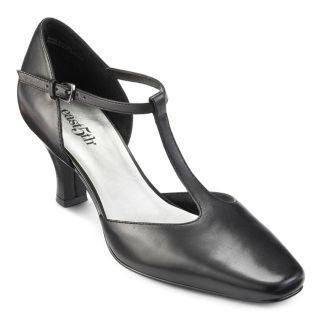 east5th® Leather Tracey T Strap Pumps