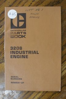 3208 Diesel Industrial Marine Engine Parts Book Catalog Manual