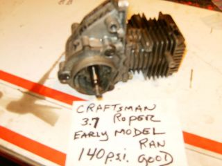 Vintage Craftsman Roper Chainsaw 3 7 Engine 140 lbs Compression Early