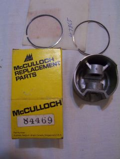 New Vintage McCulloch MC101A Kart Engine Piston Ring Set 84469 47865
