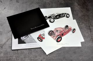 RODDERS JOURNAL REX BURNETT CUT AWAY PRINT COLLECTION SET HOT ROD RAT