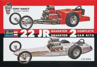 Revell Model Kit 85 1224 SSP 1 25 Scale Tony Nancy 22 Jr Dragster Set