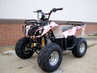 Pretty Pink Camo Quad Utility 110cc ATV Full Automatic with Rack Free