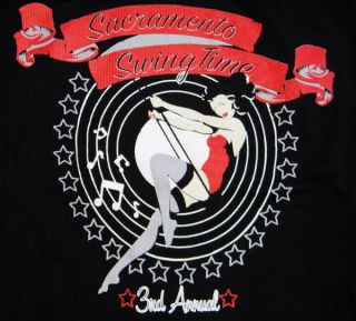 Sacramento Swingtime Pin Up T Shirt Rockabilly Tank L Hot Rod Rat Old