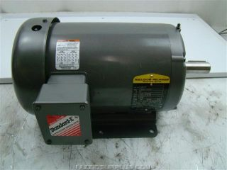 Baldor 5 HP Electric Motor 208 230 460V 3450RPM M3613T