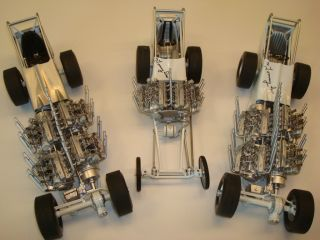 GMP Tommy IVO four engine and twin engine dragster Tooling Samples