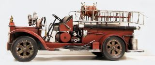 Painted Huge 25 1920s Style Fire Truck Engine Replica Model
