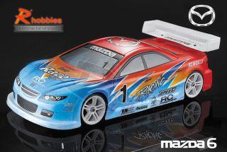 10 Mazda 6 PC Transparent RC R C on Road Racing Drift Car 190mm Body
