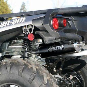 12 13 Can Am Outlander 1000 Slip On Exhaust w/ Oval Black Aluminum