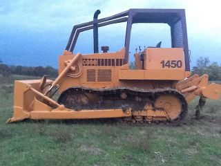 Case 1450B Crawler Dozer Loader Tractor 4 Way Blade 3 Shank Ripper