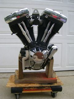 Harley Davidson Evolution Style Engine Black and Chrome